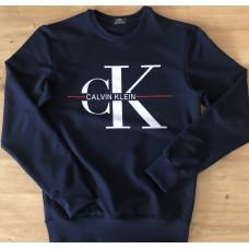 Мужской свитшот из двунитки Calvin Klein чёрного цвета
