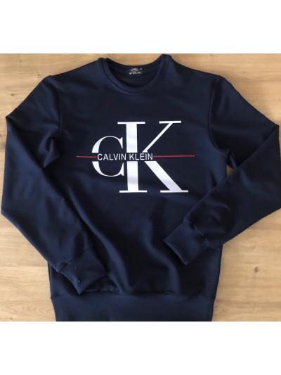 Купить Мужской свитшот из двунитки Calvin Klein чёрного цвета