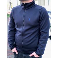 Трикотажная кофта тёмно синего цвета с вышивкой US POLO