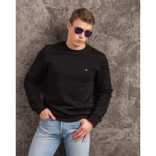 Мужской тёплый свитшот TOMMY чёрного цвета