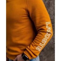 Мужской тёплый свитшот LACOSTE горчичного цвета