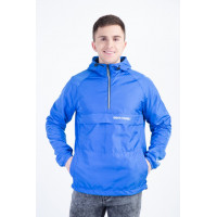 Синий мужской анорак из плащёвой ткани