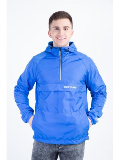 Купить Синий мужской анорак из плащёвой ткани