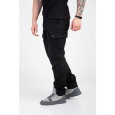 Мужские штаны-карго чёрные
