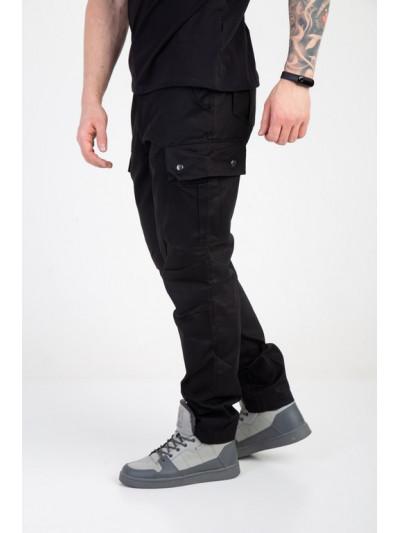 Купить Мужские штаны-карго чёрные