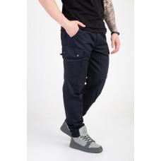 Мужские штаны-карго тёмно синие
