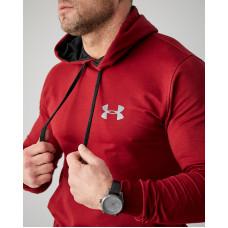 Мужское весеннее худи 2103 Under logo бордового  цвета