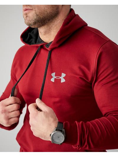 Купить Мужское весеннее худи 2103 Under logo бордового  цвета