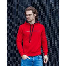 Мужская базовая толстовка красного  цвета с рисунком Freedom