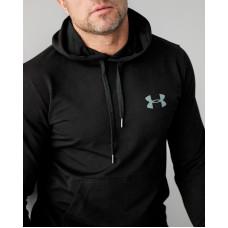 Мужское весеннее худи 2103 Under logo чёрного цвета