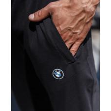 Штаны мужские 2047  с логотипом тёмно синие
