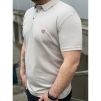 Мужская футболка Polo MYZ 5202 beige