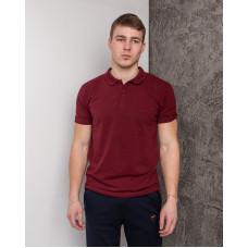 Мужская футболка Polo MYZ 5178 wine