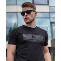 Мужская трикотажная футболка 2021 PHILIP PLEIN чёрного цвета
