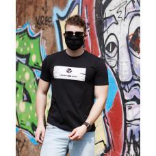 Мужская трикотажная футболка PHILIP PLEIN чёрного цвета