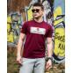 Мужская трикотажная футболка 2021 PHILIP PLEIN бордового цвета