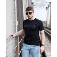 Мужская трикотажная футболка 2022 ARMANI чёрного цвета