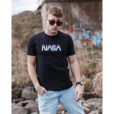 Мужская трикотажная футболка 2023 Spirit Nasa  чёрного цвета