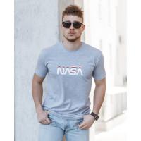 Мужская трикотажная футболка 2023 Spirit  Nasa  светло серого цвета