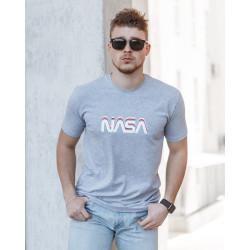 Мужская трикотажная футболка Spirit Nasa  светло серого цвета