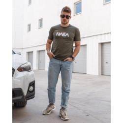 Мужская трикотажная футболка Spirit Nasa оливкового цвета