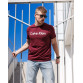 Мужская трикотажная футболка Calvin Klein  бордового цвета