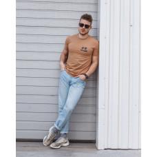 Мужская трикотажная футболка 2026 Spirit бежевого цвета