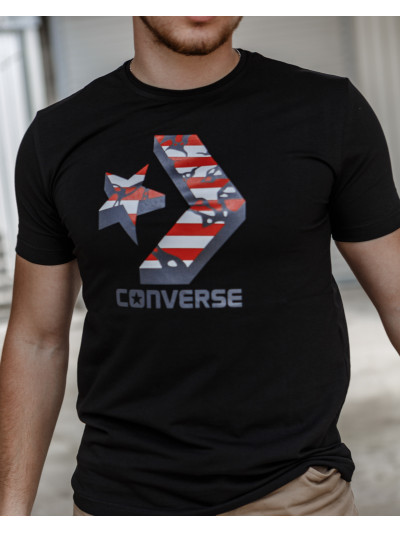 Мужская трикотажная футболка 2030 Converse чёрного цвета