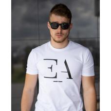 Мужская трикотажная футболка из хлопка 2031 белая