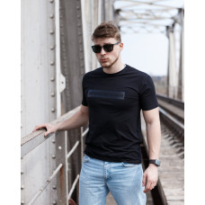 Мужская трикотажная футболка ARMANI чёрного цвета