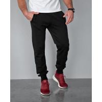 Штаны мужские 2106 чёрного цвета с боковой вставкой