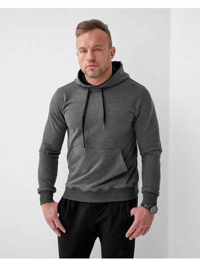 Купить Мужское весеннее худи 2102 темно серого цвета