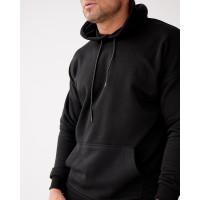 Базовое мужское трикотажное худи формата Oversize 2117 чёрного цвета