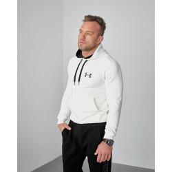 Мужское весеннее худи 2103 Uander logo молочного цвета