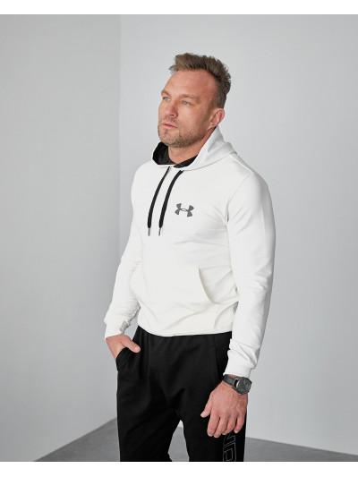 Купить Мужское весеннее худи 2103 Uander logo молочного цвета
