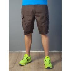 Мужские шорты-карго 1828 коричневые