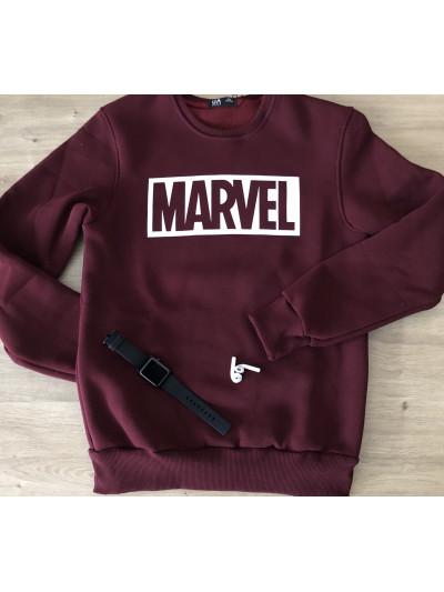 Купить Тёплый мужской свитшот MARVEL в цвете бордо