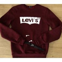 Тёплый мужской свитшот LEVI'S в цвете бордо